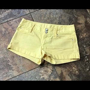 Lily Pulitzer yellow denim shorts